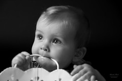 Baby in black and white (alexander.dischoe) Tags: baby boy junge face portrait toddler schwarzweiss bw blackandwhite blackwhite shooting studio light speedlightsb700 nikon nikond7100 d7100 dslr dx nikkor18200mm nikon18200mm
