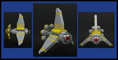 Sunflower (Karf Oohlu) Tags: lego moc scifi spaceprobe sunflower space