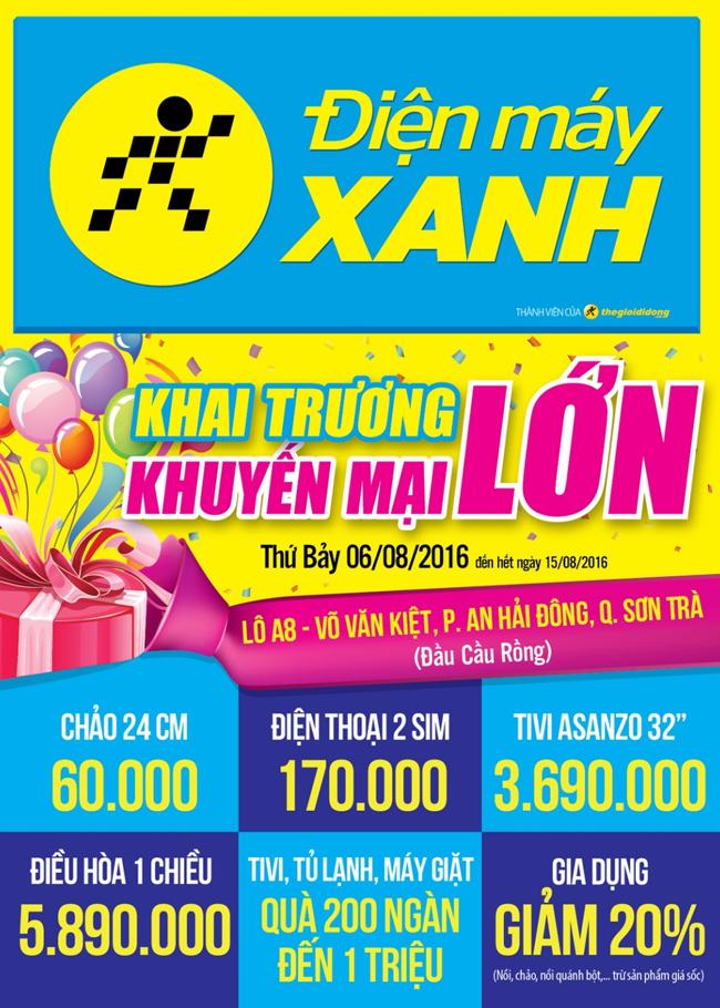 Khai trương siêu thị Điện máy XANH Sơn Trà, Đà Nẵng