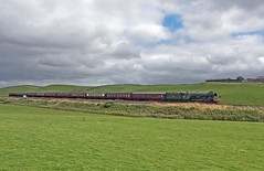 """LNER A3 Class 4-6-2 No 60103 Flying Scotsman in charge of """"The Waverly"""" on the outward leg at Gilsland on the Newcastle to Carlisle Line (penlea1954) Tags: lner a3 class 462 no 60103 flying scotsman the waverley gilsland newcastle carlisle line uk steam railway england outdoor railroad vehicle ner cumberland northumberland borders trains train transport rail locomotive locomotives loco engine pacific sir nigel gresley brampton"""