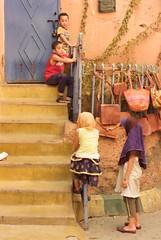 Little children playing at Medina in Marrakech (José Morcillo Valenciano) Tags: medina marrakech morocco children