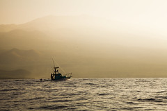 (johnwooding21) Tags: 5dmkii 24105mm llens water hawaii maui sea ocean fishing boat clouds mountain