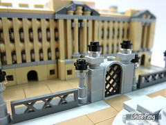 A closer view of the Buckingham Palace main gate (WhiteFang (Eurobricks)) Tags: lego architecture set landmark country buckingham palace victoria elizabeth royal royalty family crown jewel imperial statue tourist united kingdom uk micro bus taxi