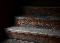 Barn stairs (Grandpaparazzi) Tags: stairs wood texture grain sidelight barn