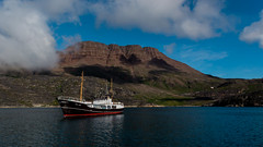 In the Waters of the Arctic (Jean-Claude Kresse) Tags: water boat nature clouds natural greenland light photograph pics summer mountain ship arctic fell qeqertarsuaq nikon d7100 disko island 1855 ii