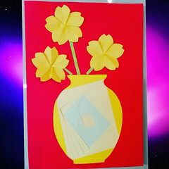 Greeting Card Iris Fold (NiRoGiftsandDeco) Tags: greeting card iris fold greetingcard flowers vase message handmade awesome