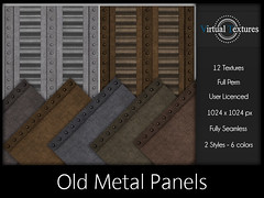 [VT] Old Metal Panels (VirtualTextures) Tags: textures secondlife metal panels plates bolted distressed industrial steampunk copper steel iron