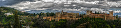 Alhambra, panoramic shot (andbog) Tags: sony alpha ilce a6000 sonya6000 emount mirrorless csc sonya oss sel 1650mm selp1650 spagna spain espaa es sony sonyalpha sony6000 sonyilce6000 sonyalpha6000 6000 ilce6000 andalucia architettura architecture granada palacio palace espana overcast nuvoloso rainy hdr alhambra building palazzo wall remparts battlements merli merlons merlatura photomatix clouds nuvole cloudy apsc stitch panorama microsoftimagecompositeeditor widescreen panoramicshot view vista vistapoint belvedere handheld miradordesannicolas sierranevada over100fav