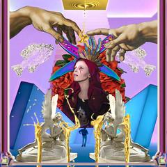 Gold-line Sorrow's Virgin (RomoRomeo) Tags: artwork collage photoshop composition drake hotline bling virgin sorrows gold surrealism