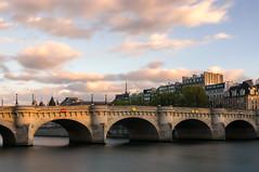 Paris (Yann OG) Tags: paris parisien parisian france franais french pontneuf neufbridge sunset coucherdesoleil poselongue longexposure nd1000 sigma30mm conciergerie seine