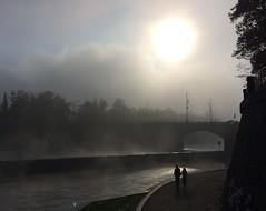 Foggy morning on the Vltava (Eastern Traveller) Tags: morning autumn bohemia czechrepublic sunshine mist fog river vltava prague