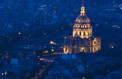 NH0A1432s (michael.soukup) Tags: paris france montparnasse lesinvalides dome bluehour arcdetriomphe arch architecture skyline cityscape sunset dusk city lights gold blue