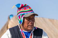 The president of a Uros island (fabioresti) Tags: urosislands isole lago titikaka lake puno per canoneos80d 55250 2016 president presidente