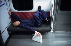 201609-06-M4BP-CT800-35SUMMARON-28 copy (maddoc2003jp) Tags: 2016 color c41 film yamanoteline shibuya tokyo japan     night train leitz leica leicam7 3528 35mm summaron goggled cinestill800 exhausted