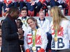 Ore Oduba with Hannah Mills and Saskia Clark (Suede Bicycle) Tags: olympics rio rioolympics rio2016 olympicgames heroeswelcome trafalgarsquare summerolympics olympicparade paralympics rioparalympics
