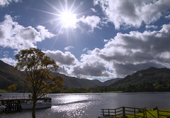 Star & Sea (kellyhackney1) Tags: ullswater lake cumbria lakedistrict piccy sunstar sun star pretty shimmer tree nature holiday