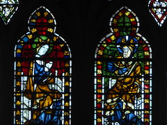 Mary & Christ Enthroned (Aidan McRae Thomson) Tags: york minster cathedral yorkshire stainedglass window medieval