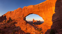 The Window Arch at Sunrise (Ding Ying Xu) Tags: panorama archesnationalpark sunrise rock formations erosion