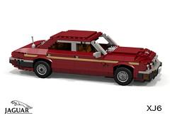 Jaguar XJ6 (XJ40 - 1986) (lego911) Tags: auto uk england car sedan model lego britain render 80s gb jaguar 1986 1980s saloon cad povray moc xj6 ldd xj40 miniland foitsop lego911 liketotally80s