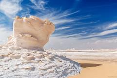 desert mushroom (dominiquesainthilaire) Tags: travel mushroom landscape sand nikon desert egypt sable paysage champignon discover voyages calcaire gypte whitedesert westerndesert nikond80 dsertblanc