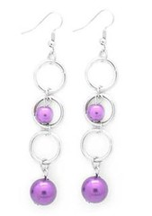 Glimpse of Malibu Purple Earrings P5410-4