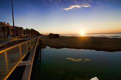 Calafell at Dawn.- (ancama_99(toni)) Tags: bridge sunset sea vacation sun sunrise puente atardecer dawn mar nikon mediterranean mediterraneo calafell catalonia tokina amanecer catalunya puestadesol sunrises vacaciones cataluña 1000views 2015 amaneceres 10favs 10faves 25favs 25faves 1116mm d7000