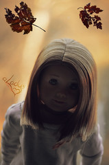 Fragile Life (Lady Alec) Tags: life fall leaves leaf ag fragile micah americangirldoll