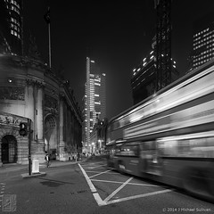 "The Midnight Bus, London (18""x18"") (JMichaelSullivan) Tags: uk england urban bus london monochrome night 100v mono nikon 10f 600v dxo 200v nocturne 500v d800 700v 300v 5f 15f mjsfoto1956 400v 20f 800v 2013 1424mm"