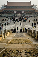 Forbidden City (Erik Lykins) Tags: china plaza city travel people urban building heritage history tourism museum architecture buildings asian outside outdoors temple photography construction ancient scenery asia downtown cityscape tour exterior outdoor traditional famous capital sightseeing chinese beijing scenic cities culture landmark icon palace tourist tourists structure architectural historic unescoworldheritagesite unesco east traveller forbidden ornament empire imperial destination historical tradition forbiddencity oriental orient gugong museums ornamental iconic touristattraction cultural peking attraction historicbuilding travelphotography 35mmf2 traveldestination d7000 beijing3145 beijingimperialpalacemuseum