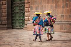 Plaza de Armas, Cuzco, Peru (laskaproject) Tags: old mountains color peru southamerica hat inca cuzco costume ancient nikon women colorful embroidery traditional andes lamb plazadearmas d700