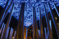 night sky star tubular bells (Joao.Pires) Tags: light night bells star lampe lumiere eclairage luminaire