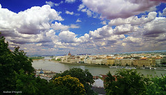 Sotto le nuvole: Budapest (Darea62) Tags: budapest clouds river hungary town city danube art panorama bridge trees parliament ancient architecture hill