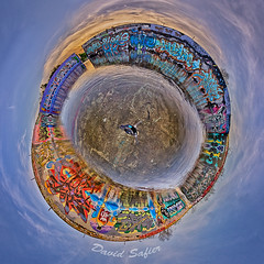 wheel 1600 (David Safier - redwoodimage) Tags: ocean county blue sea seascape night photoshop lost lights graffiti humboldt crazy nice purple flat pano jetty devils north picture ground 360 best og 180 every round devil samoa hd arcata tone hdr eureka olay gaff inwater 1600px