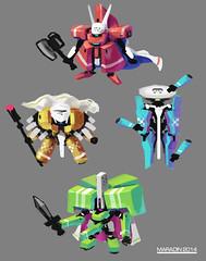 bossrobots (Nidaram) Tags: art robot robots videogames mecha mech nidaram