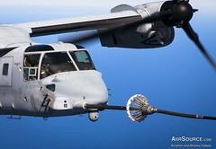 V-22 Tiltrotor Aerial Refueling (AiirSource) Tags: africa usmc flying spain flight marines es tanker osprey c130 readiness aerialrefueling mv22b kc130j crisisresponse mornairbase spmagtfcraf