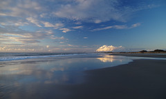Ninety Mile Beach 4 (Markj9035) Tags: ocean sunset sea reflection beach reflections waves northland 90milebeach ninetymilebeach northlands