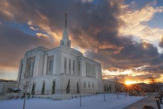 Ogden Temple Sunset