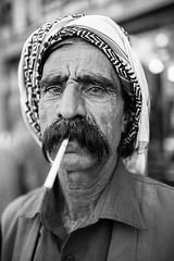 Long mustache for a long cigarette (Giulio Magnifico) Tags: cigarette iraq arabic isis kurdistan yazidi zakho ezidi nikond800e sigma35mmf14dghsm da3sh