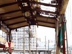 (Yorozuna / ) Tags: clock japan construction rust ruins structure hiroshima framework shoppingstreet shoppingarcade shoppingdistrict steelframe       redrust       japaneseruins