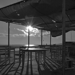 Almost 50 shades of (not grey) black!!! (spiros_legenda) Tags: sea sun white black abandoned grey amazing view shades greece piraeus