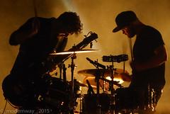 Royal Blood (_modernway_) Tags: lighting light red musician music silhouette lights concert emotion drum bass guitar gig o2 bassist drummer drumming guitarist brixtonacademy bassguitarist royalblood benthatcher mikekerr o2brixtonacademy