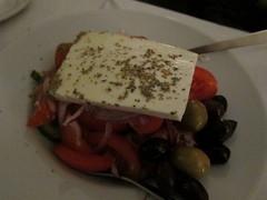 Elliniki Salata (su-lin) Tags: food london dinner greek restaurant nottinghill greekfood greekaffair