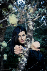 Diane.P.D.B. By Corsu. (By Corsu) Tags: portrait woman sexy nature girl face by canon eos women flickr gun corse military femme riviere corsica hunting teen cal weapon sniper fille foret swat mp5 militaire hunt visage teenage chasse lightroom 6d fusil arme jumelle preset gign corsu menotte carabine 0017 gipn
