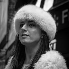 In Furs on Broadway (slightheadache) Tags: 2015 broadway fur nyc newyork newyorkcity stpatricksday candid woman d desnudas desnudastimessquare
