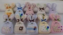 Coelhos (Ka Comelli) Tags: artesanato páscoa coelho decoração tecido feitoamão