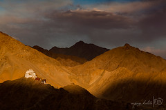 The Old Kingdom and the Glowing Land (Arpan Kalita) Tags: travel light sunset india cold tourism nature beautiful june landscape photography photo gallery glow tour bend curves great picture buddhism pic roadtrip images hues kashmir leh hue ladakh jammukashmir lehpalace