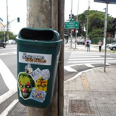 So Paulo, Brazil (PSYCO ZRCS 10/12) Tags: street brazil art sticker stickerart stickers slap tagging psyco bombing garde slaps espinafre stickerporn psycozrcs