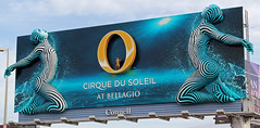 Cirque Du 'Dimensional' - Las Vegas, NV (tossmeanote) Tags: show las vegas blue yellow canon advertising eos hotel soleil airport exterior o stripes nevada ad du casino billboard resort relief nv international advert bellagio exit dizzy cirque mccarran connell 24105 2015 60d tossmeanote