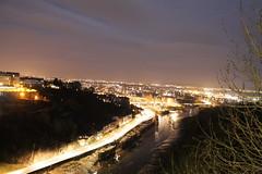 Clifton Suspension Bridge, Bristol - February 2015 (Harlon Marewood) Tags: city bridge canon bristol lights suspension nightshoot nightsky overexposure clifton 1100d