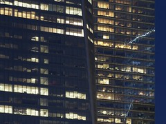 One Seven Four (beanhead4529) Tags: nyc newyorkcity reflection glass architecture manhattan worldtradecenter financialdistrict wtc bluehour lowermanhattan 7wtc 7worldtradecenter sevenworldtradecenter 1wtc oneworldtradecenter microfourthirds olympusem5 olympus75mm 1worldtraceenter